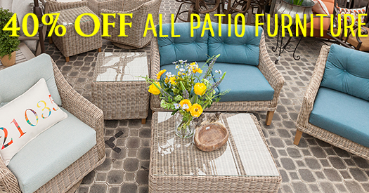 40 percent off patio furniture