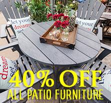 40 percent off all patio furniture
