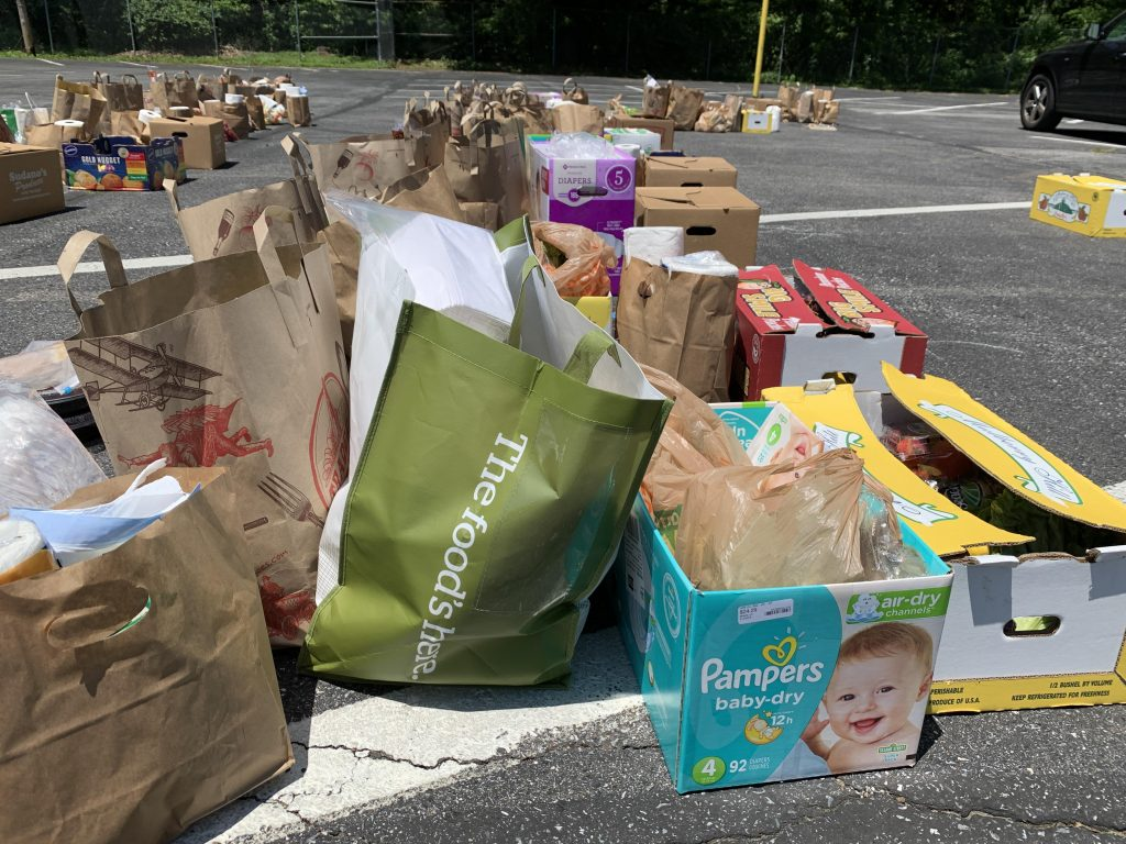 West Annapolis Pop Up Pantry donations ready to sort