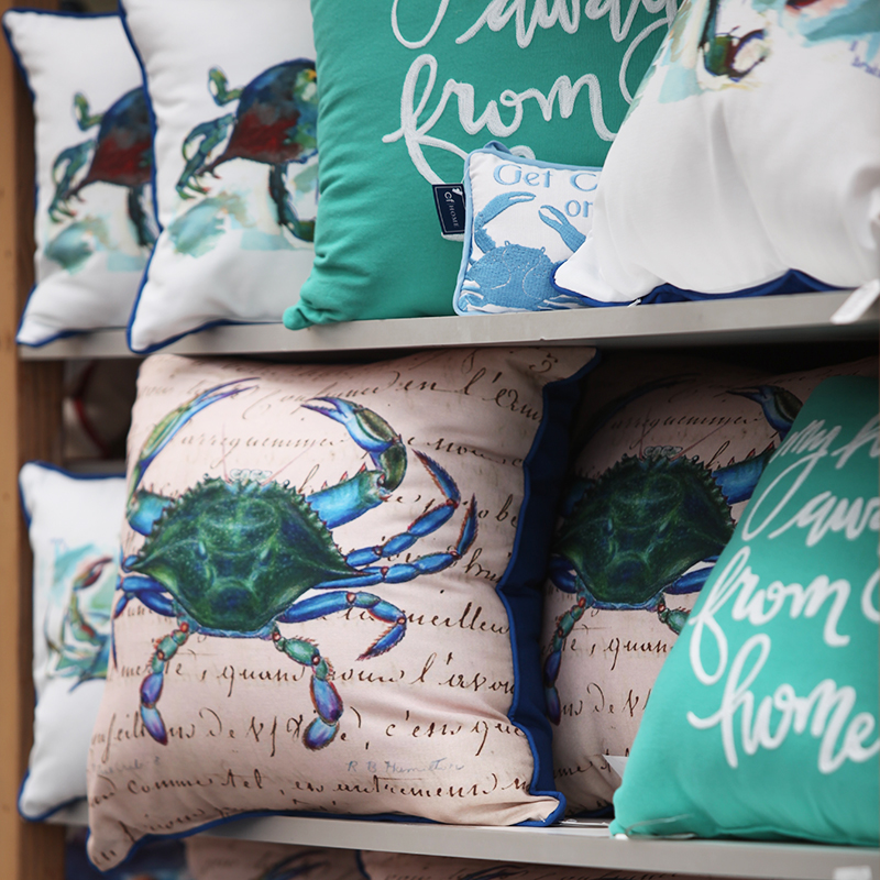 crab pillow display