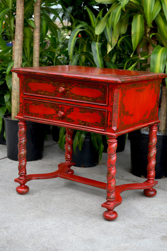 Red Side Table Large