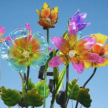 Solar Flower Garden Stakes 350