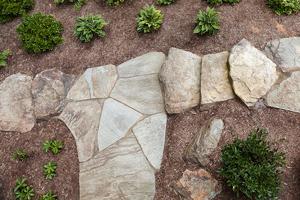 natural stone garden walkway
